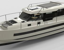 новая моторная водоизмещающая яхта Northman 1200